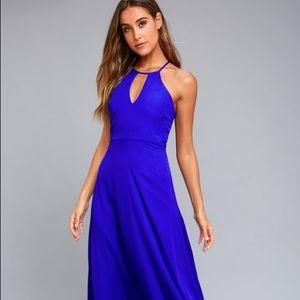 New Lulu's Beauty and Grace Royal Blue Maxi Dress